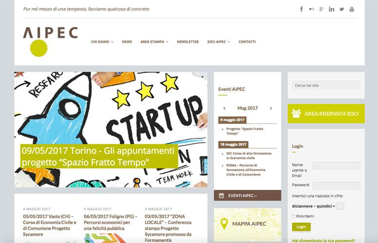 WEB DESIGN | Aipec - Associazione Italiana Imprenditori per un'economia di comunione - Sito web