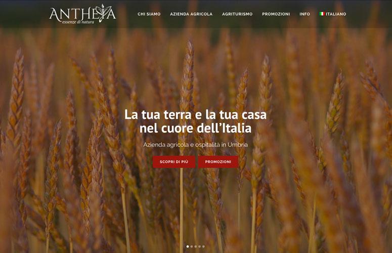 WEB DESIGN | Antheia - Azienda agricola e ospitalità in Umbria - Sito web