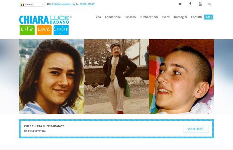 WEB DESIGN | Chiara Luce Badano - Sito Web