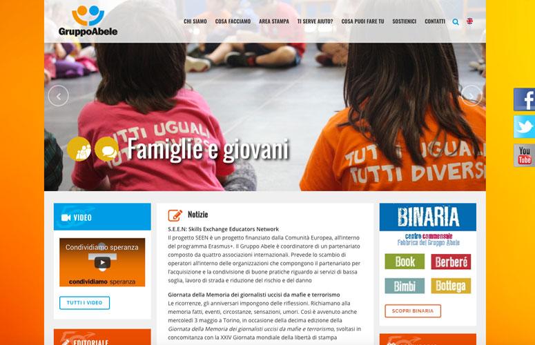 WEB DESIGN | Gruppo Abele ONLUS - Sito web