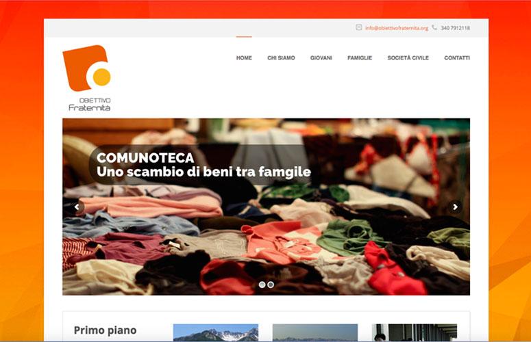 WEB DESIGN | Obiettivo Fraternità ONLUS - Sito Web