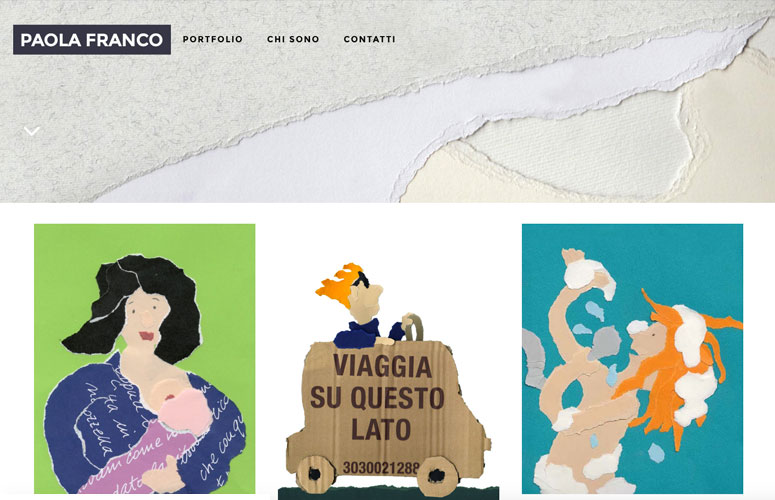 WEB DESIGN | Paola Franco - Illustratrice - Sito Web