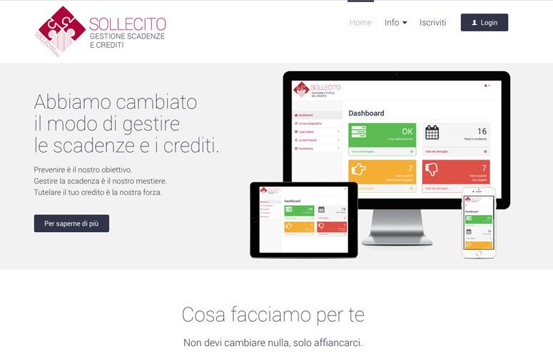 WEB DESIGN | Sollecito - Gestione scadenze e crediti - Sito Web