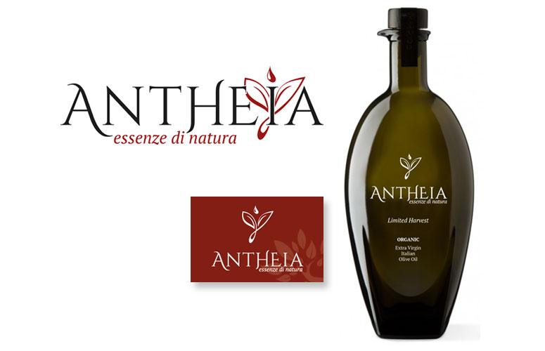 GRAFICA | Antheia - Logo Biglietto da visita Serigrafia bottiglia olio