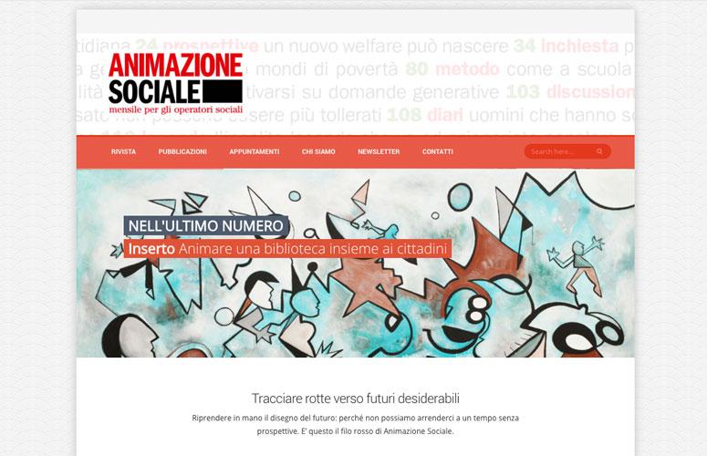 WEB DESIGN   Animazione sociale - Mensile per operatori sociali - Sito Web