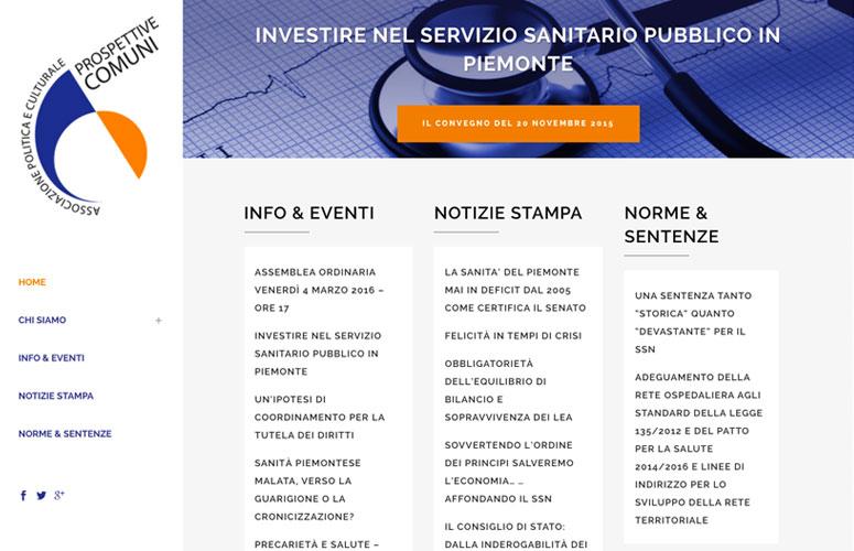 WEB DESIGN | Associazione politica e culturale Prospettive Comuni - Sito web