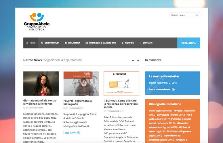 WEB DESIGN   Centro Studi Biblioteca Gruppo Abele