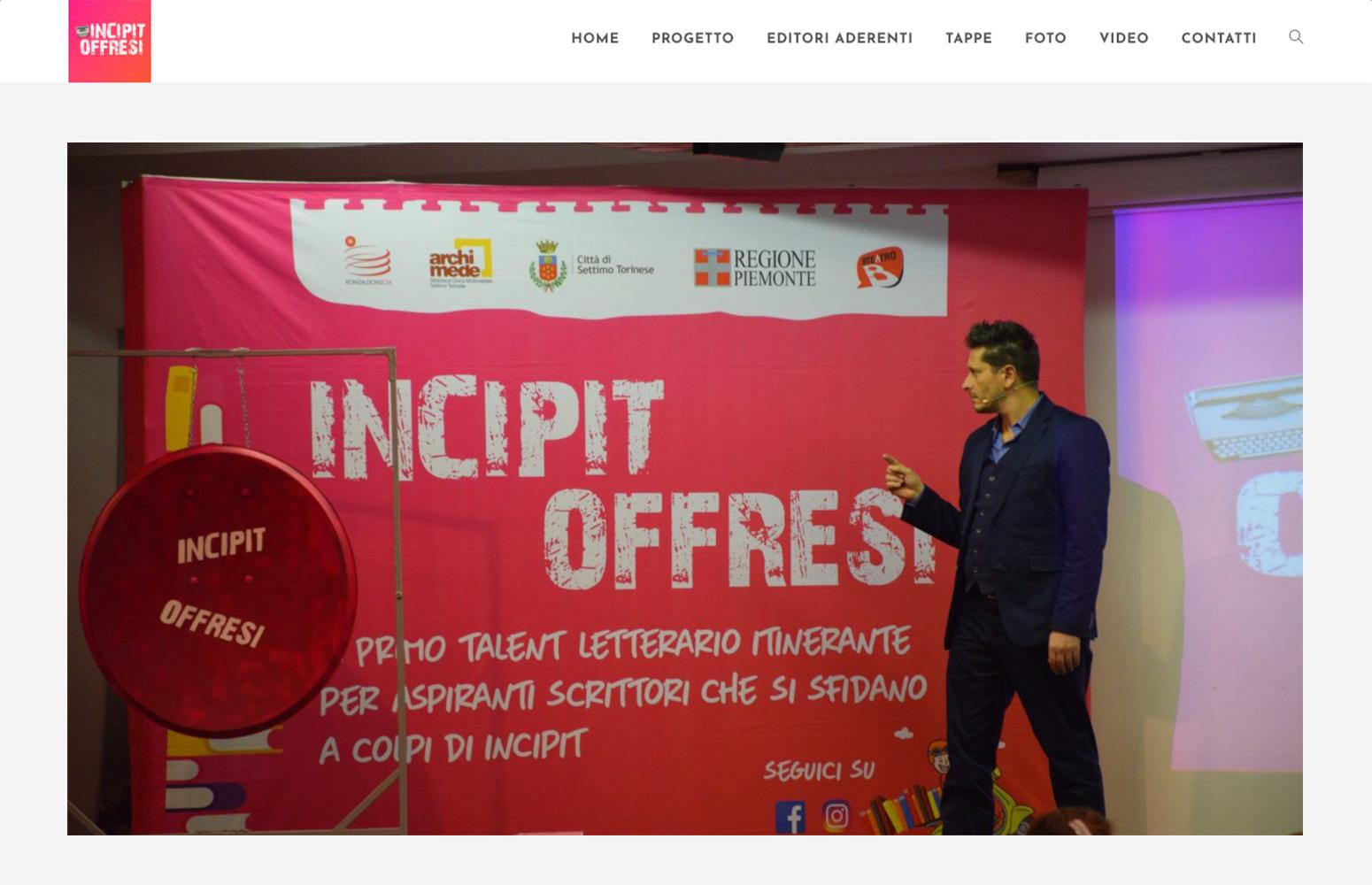Incipit Offresi, Fondazione ECM e Biblioteca Archimede Settimo Torinese, Progetto e Realizzazione Sito Web, Wordpress