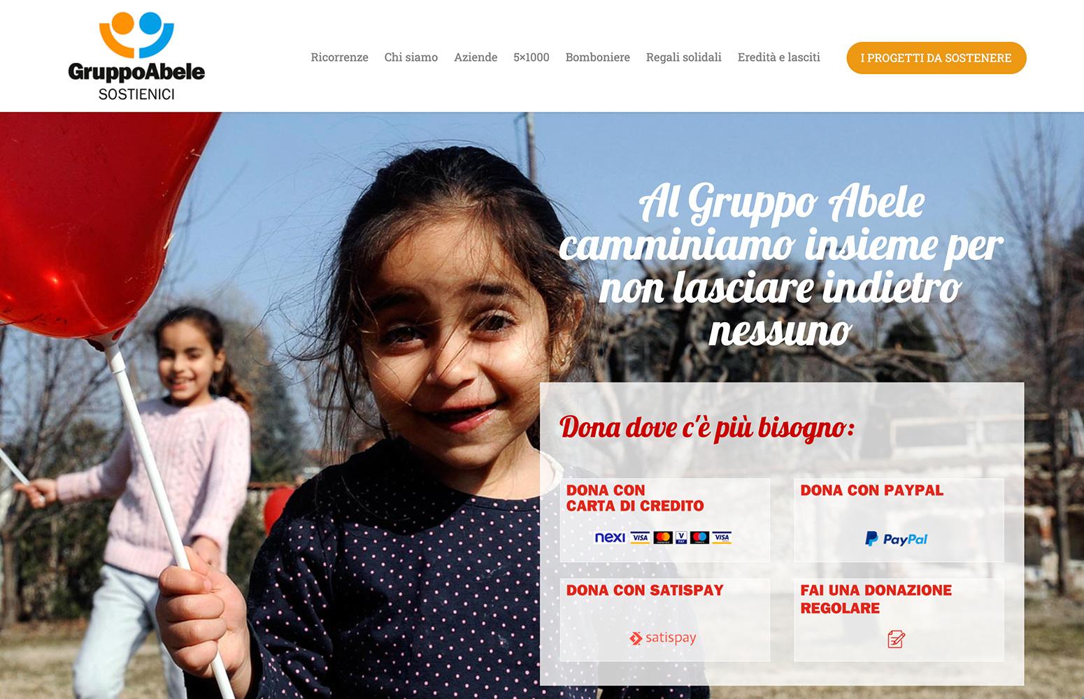 WEB DESIGN | Sostieni il Gruppo Abele - Sito web