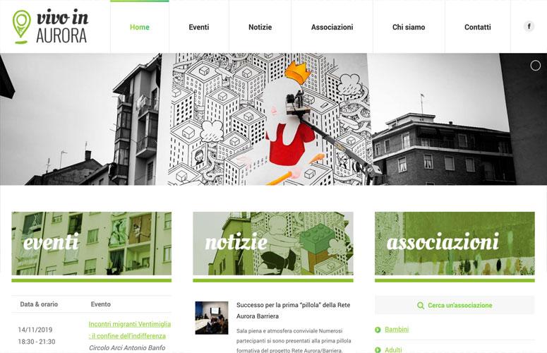 Vivo in Barriera Aurora, Torino, Grafica Logo, Progetto e Realizzazione Sito Web, WordPress