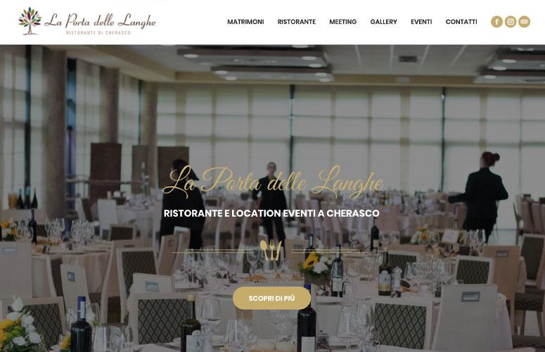 La Porta delle Langhe, Ristorante e Location Eventi, Cherasco - Cuneo, Progetto e Realizzazione Sito Web, WordPress