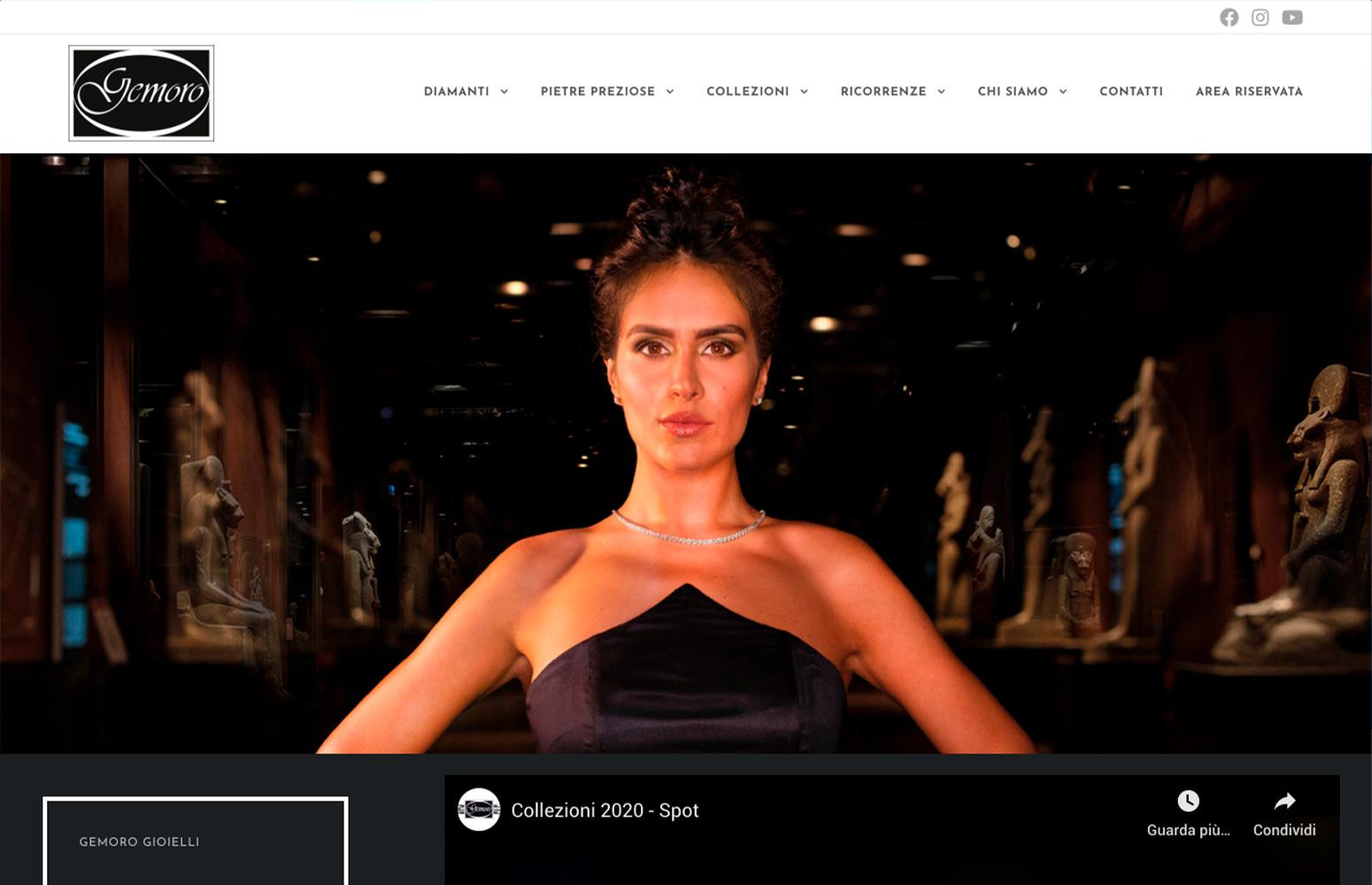 WEB DESIGN | Gemoro Gioielli | Torino - Sito Web