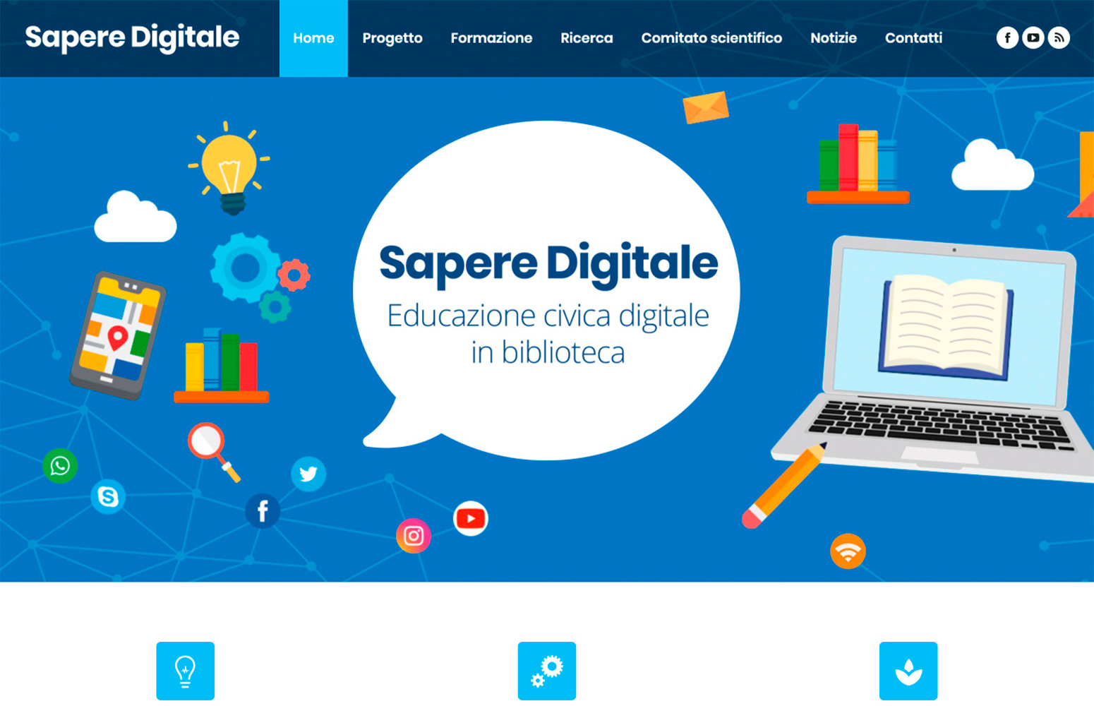 WEB DESIGN | Educazione digitale civica in Biblioteca - Sito web