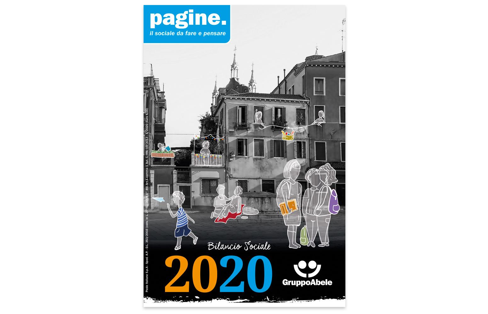 Gruppo Abele - Bilancio sociale 2020 - Progettazione grafica, impaginazione, infografica